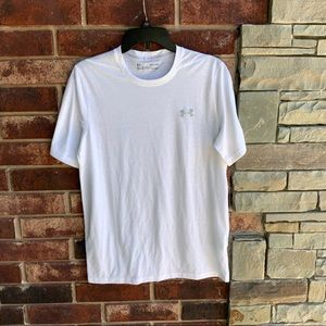 Under Armour Heat Gear Loose Fit White Shirt Men S